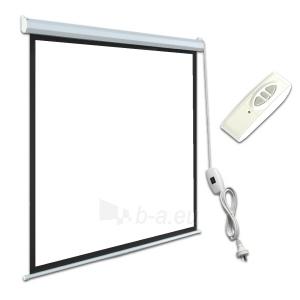 ART Elektrinis projektoriaus ekranas 4:3 120 244x183cm Matinis baltas su dista Paveikslėlis 1 iš 2 30058000059