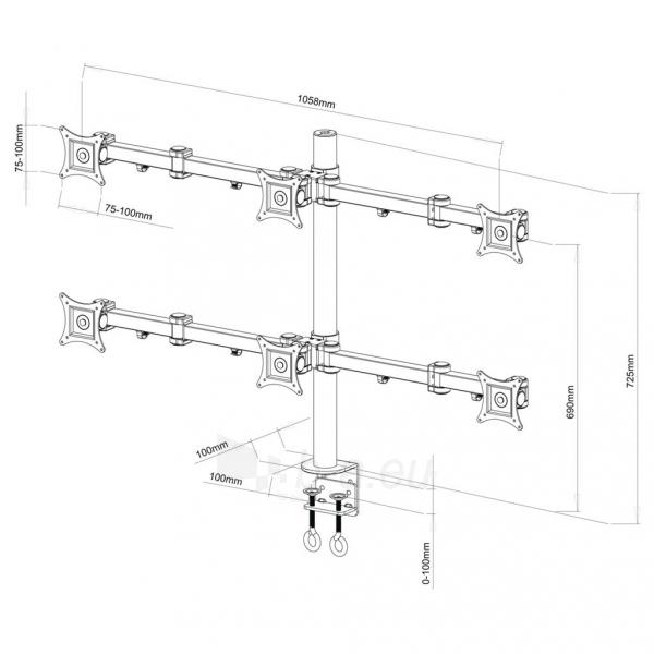 ART Holder L-06 UNIVERSAL for 6xLCD MONITOR 13-20 Paveikslėlis 2 iš 2 250251202396