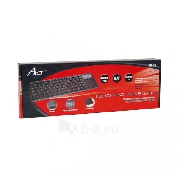ART Klaviatūra + TOUCHPAD AK-68 USB Paveikslėlis 3 iš 3 250255701245