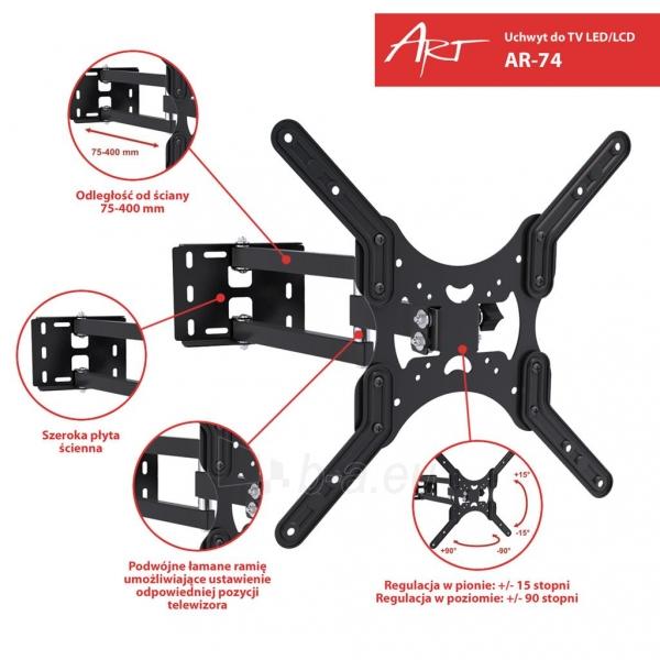 ART laikiklis AR-74 for LCD/LED TV 19-50 35kg reg. vertical/level Paveikslėlis 6 iš 7 310820037646