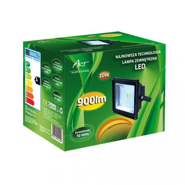 ART Lauko šviestuvas LED 10W,IP65,AC80-265V,black, 4000K- balta šviesa Paveikslėlis 2 iš 4 224114000212