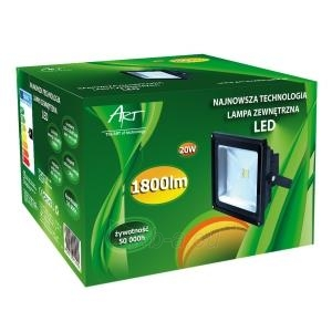 ART Lauko šviestuvas LED 20W,IP65,AC80-265V,black, 4000K- balta šviesa Paveikslėlis 2 iš 7 224114000260