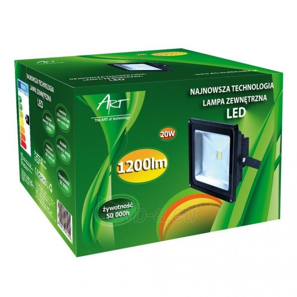 ART Lauko šviestuvas LED 20W,IP65,AC80-265V,black, 4000K- balta šviesa Paveikslėlis 5 iš 7 224114000260