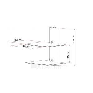 ART Lentyna D-50 20KG to DVD/TUNER aluminium Juoda Paveikslėlis 3 iš 4 250226200585