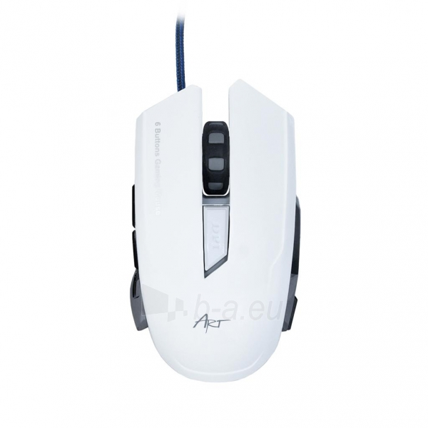 ART Mouse optical for players 2000DPI USB AM-90 white Paveikslėlis 2 iš 9 250255031628