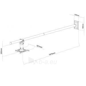 ART Projektoriaus laikiklis 100-200cm sieninis  P-106B 15KG juodas Paveikslėlis 2 iš 2 30058300198