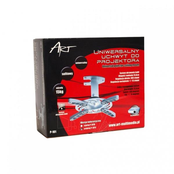 ART Projektoriaus laikiklisP-101 *16cm* sidabrinis 15KG sieninis Paveikslėlis 3 iš 3 30058300191