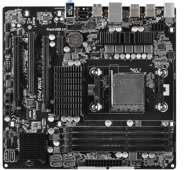 ASRock 970M PRO3, 970, SB950, DualDDR3-1333, SATA3, RAID, mATX Paveikslėlis 1 iš 2 250255051737