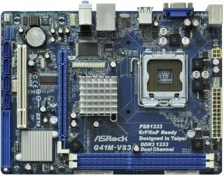 ASRock G41M-VS3, G41, DualDDR3-1333, SATA2, VGA, LAN, mATX Paveikslėlis 1 iš 2 250255051471