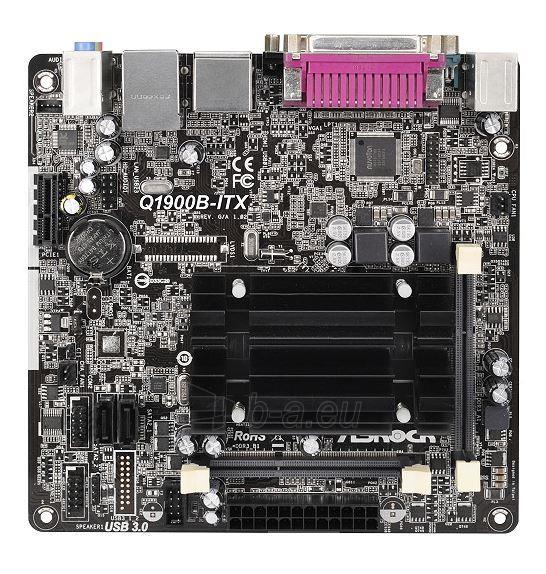 ASRock Q1900B-ITX, J1900, DualDDR3L-1333, 2xSATA2, HDMI, D-Sub, mITX Paveikslėlis 1 iš 2 250255051492