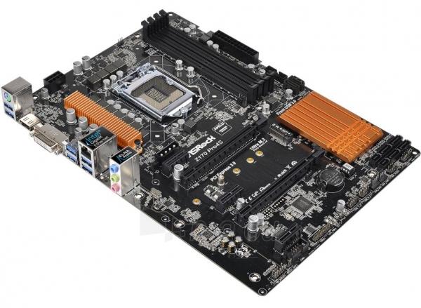 ASROCK Z170 Pro4S LGA1151 ATX Paveikslėlis 1 iš 1 250255051843
