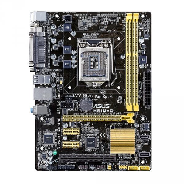 Asus, H81, DualDDR3-1600, SATA3, mATX Paveikslėlis 1 iš 2 250255051593