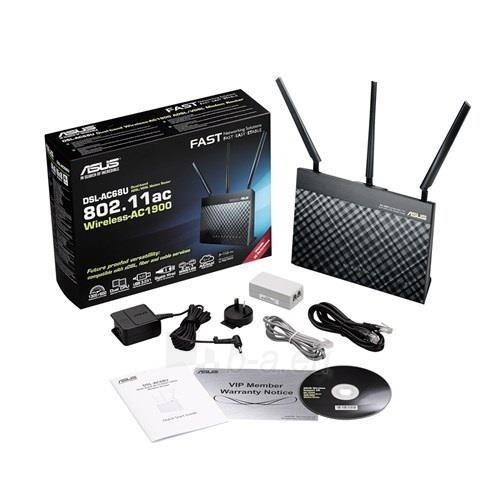 Asus DSL-AC68U AC1900 Dual-band Wireless VDSL2/ADSL Modem , Annex A&B Paveikslėlis 7 iš 13 250257200497