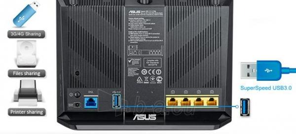 Asus DSL-AC68U AC1900 Dual-band Wireless VDSL2/ADSL Modem , Annex A&B Paveikslėlis 6 iš 13 250257200497