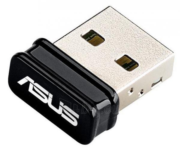 Asus USB-N10 Wireless-N150 Adapter, IEEE 802.11b/g/n, USB2.0, Nano Paveikslėlis 1 iš 1 250257100273