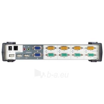 ATEN CS1744 4-Port USB Dual View KVMP Switch (2xVGA cards) 2-port USB Hub, Audio Paveikslėlis 4 iš 4 250257501412