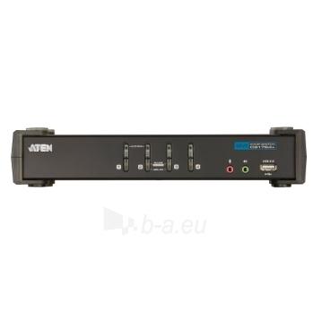 ATEN CS1764A 4-Port DVI USB 2.0 KVMP Switch, 4x DVI-D Cables, 2-port Hub, Audio Paveikslėlis 3 iš 4 250257501413