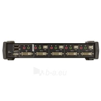 ATEN CS1764A 4-Port DVI USB 2.0 KVMP Switch, 4x DVI-D Cables, 2-port Hub, Audio Paveikslėlis 4 iš 4 250257501413