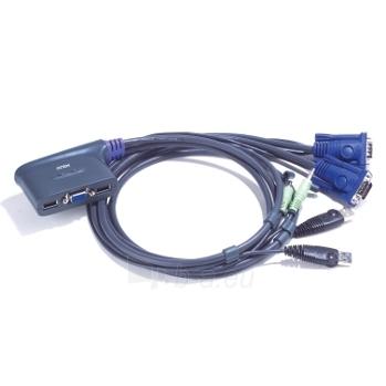 ATEN CS62US 2-Port USB KVM Switch, Speaker Support, 0.9m cables Paveikslėlis 1 iš 2 250257501425