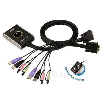 ATEN CS682 2-Port USB DVI KVM Switch, Audio 2.1, Remote port selector (1.8m) Paveikslėlis 1 iš 2 250257501456