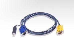 ATEN KVM kabelis (HD15-SVGA, USB, USB) - 5m Paveikslėlis 1 iš 1 250257501473