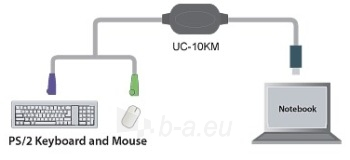 ATEN PS/2 to USB Adapter, converter with a 90cm cable Paveikslėlis 2 iš 2 250256600361