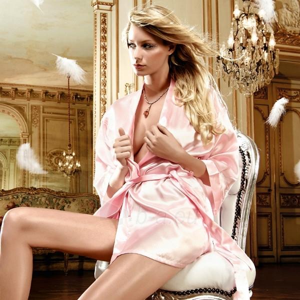 Atlasinis kimono - Šviesiai rožinis Paveikslėlis 1 iš 3 25140807000512