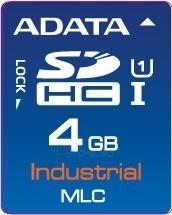 Atminties kortelė Adata Industrial SDHC 4GB, MLC, nuo -40 iki 85C Paveikslėlis 1 iš 1 250255122751