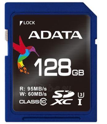Atminties kortelė Adata SDXC UHS-1 U3 128GB, Sparta 95/60MBs Paveikslėlis 1 iš 2 250255122609