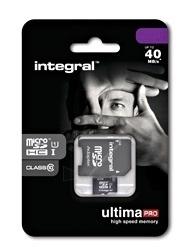 Atminties kortelė Integral microSDHC 32GB CL10  Adapteris Paveikslėlis 2 iš 2 250255122773