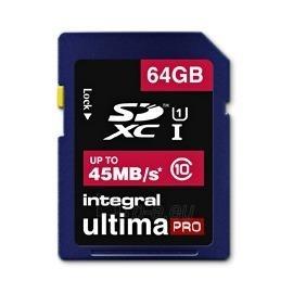 Atminties kortelė Integral SDXC 64GB CL10 - ULTIMA PRO, UHS-I Paveikslėlis 1 iš 2 250255122774