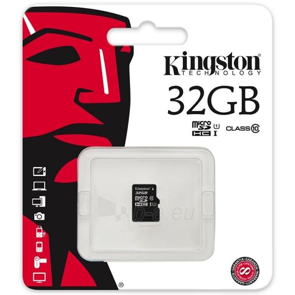 Atminties kortelė KINGSTON 32GB microSDHC Class 10 UHS-I 45R Flash Card Single Pack w/o Adapter Paveikslėlis 1 iš 1 310820010182