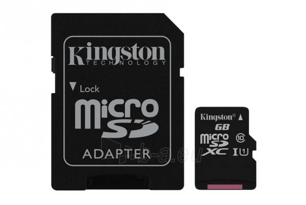 Atminties kortelė KINGSTON 64GB microSDXC Class10 UHS-I Paveikslėlis 1 iš 1 310820010191