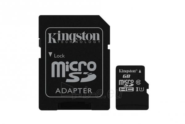 Atminties kortelė KINGSTON 8GB microSDHC Class10 UHS-I Paveikslėlis 1 iš 1 310820010192