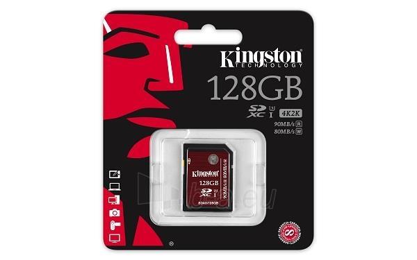 Atminties kortelė Kingston SDXC 128GB UHS1 CL3, Sparta 90/80MBs Paveikslėlis 3 iš 3 250255123395