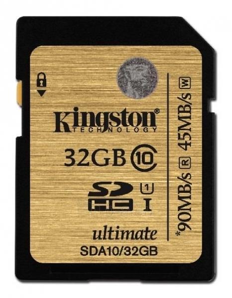 Atminties kortelė Kingston Ultimate 32GB SDHC UHS-I Paveikslėlis 1 iš 1 250255122853