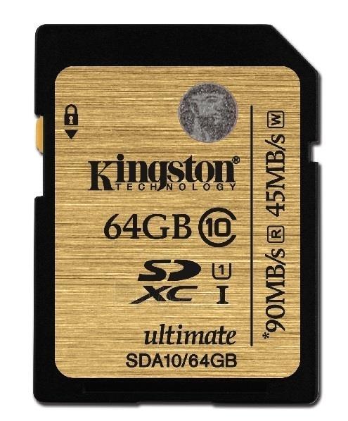 Atminties kortelė Kingston Ultimate 64GB SDXC UHS-I Paveikslėlis 1 iš 1 250255123138