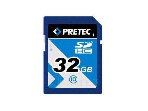 Atminties kortelė Pretec SDHC 32 GB class 10 ( 35MB/s, 10MB/s ) Paveikslėlis 1 iš 3 250255122851