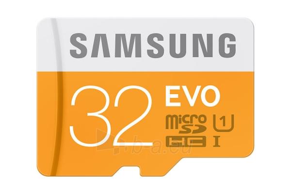 Atminties kortelė SAMSUNG MicroSD EVO 32GB Class10 +USB2.0 Paveikslėlis 1 iš 1 310820010170