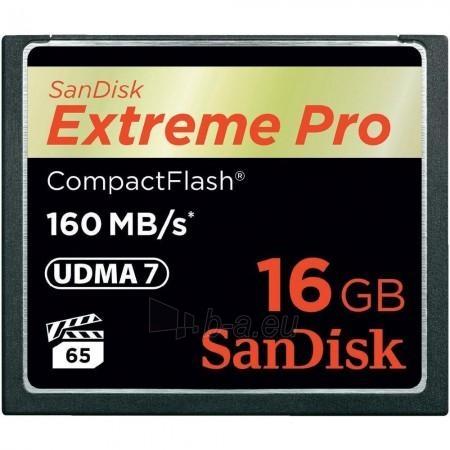 Atminties kortelė SanDisk Extreme CF 16GB Paveikslėlis 1 iš 1 250255122237