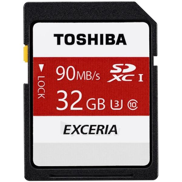 Atminties kortelė TOSHIBA 32GB SD N302 Exceria R90 Paveikslėlis 1 iš 1 310820042490