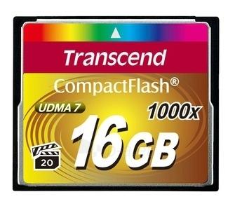 Atminties kortelė Transcend CF 16GB, 1000x Paveikslėlis 1 iš 1 250255122572