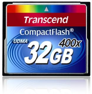 Atminties kortelė Transcend CF 32GB, Sparta iki 400x (90/60MBs) Paveikslėlis 1 iš 1 250255122242