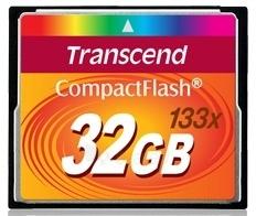 Atminties kortelė Transcend CF 32GB High Speed 133x Paveikslėlis 1 iš 1 250255122574