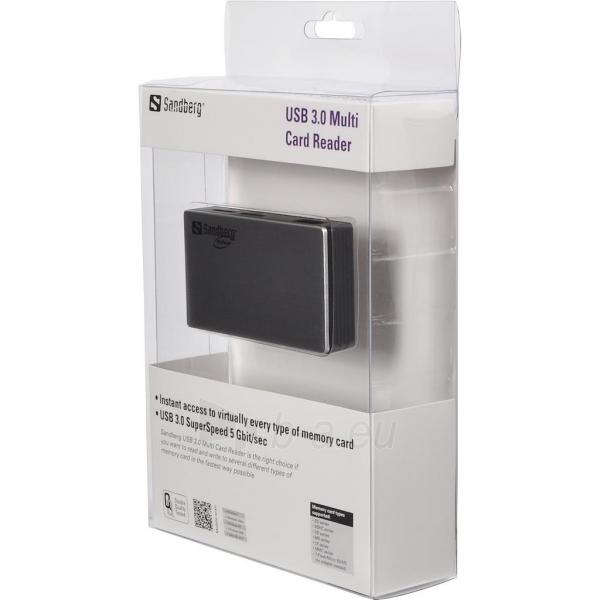 Atminties kortelių skaitytuvas Sandberg USB 3.0 Multi Paveikslėlis 2 iš 2 250255122787