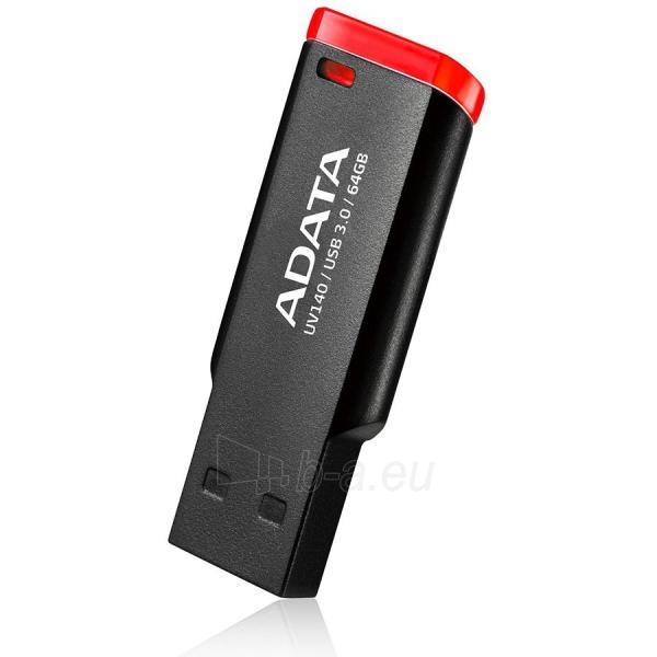 Atmintinė ADATA 64GB USB3.0 (AUV140-64G-RKD) Flash Drive, Black-Red Paveikslėlis 1 iš 1 310820014545