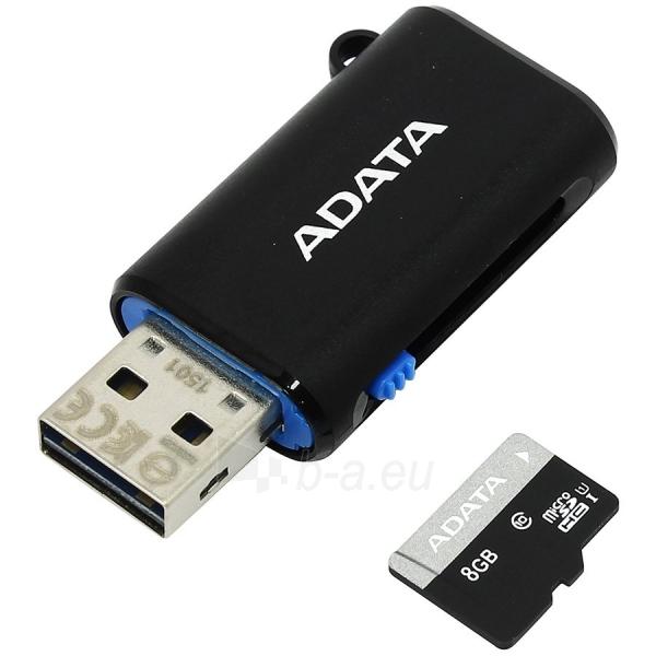 Atmintinė ADATA MICROSDHC 8GB UHS-I CLASS10 RETAIL W/OTG MICRO READER BBK Paveikslėlis 1 iš 1 310820014485