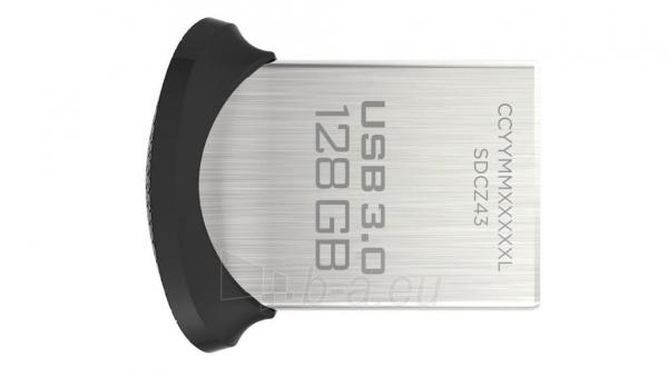 Atmintinė Atmintukas SanDisk Ultra Fit 128GB USB3.0, 128-bit AES, Up to 130MBs Paveikslėlis 1 iš 1 310820045113