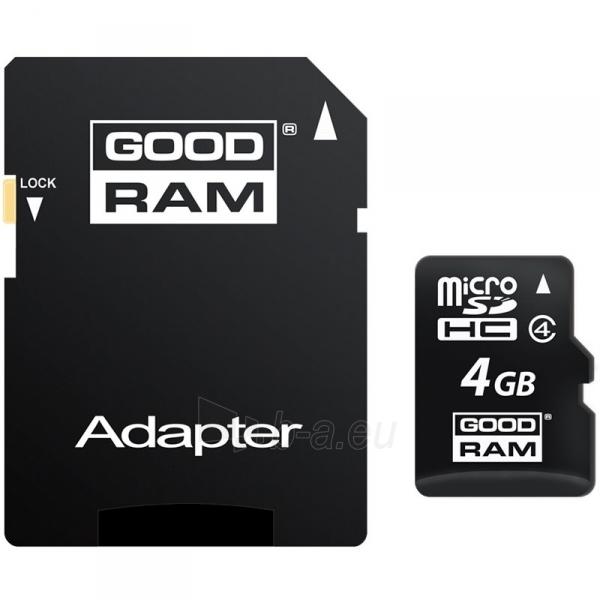 Atmintinė GOODRAM 4GB MICRO CARD class 4 Paveikslėlis 1 iš 1 310820014528