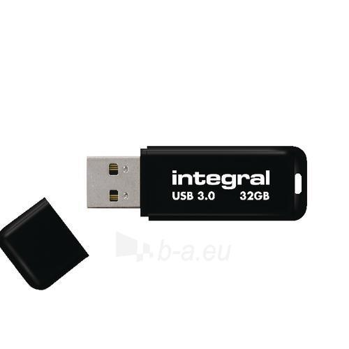 Atmintinė Integral USB 32GB Black, USB 3.0 with removable cap Paveikslėlis 1 iš 1 310820045044